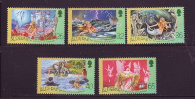 Alderney Scott  245-9 2005 Hans Christian Andersen stamp set NH