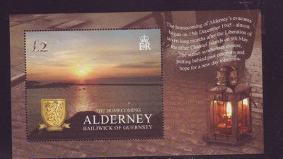 Alderney Scott  262 2005 Homecoming  stamp sheet NH