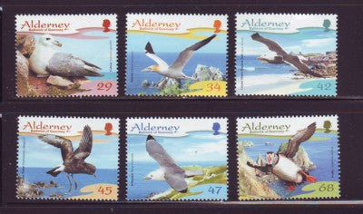 Alderney Scott  273-8 2006 Birds stamp set NH