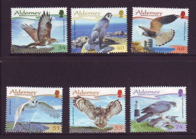 Alderney Scott  319-24 2008 Birds stamp set NH