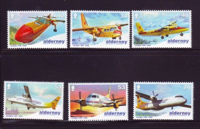 Alderney Scott  332-7 2008  Aurigny Air Services stamp set NH