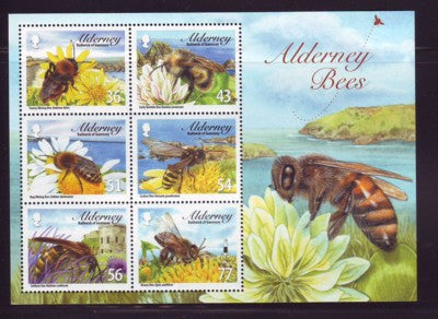 Alderney Scott  343a 2009 Bees stamp sheet NH