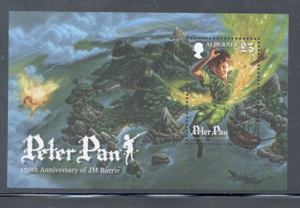 Alderney Scott  389 2010 Peter Pan stamp sheet mint NH