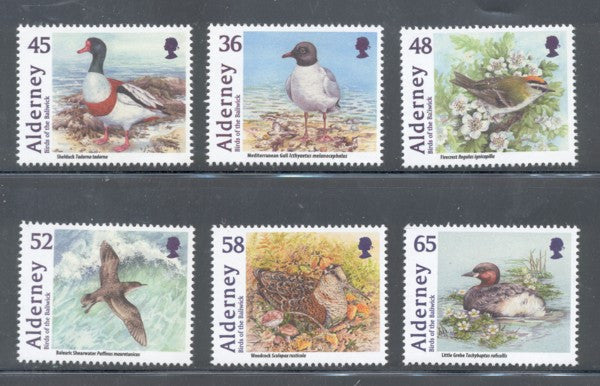 Alderney Scott  403-8 2011 Birds stamp set mint NH