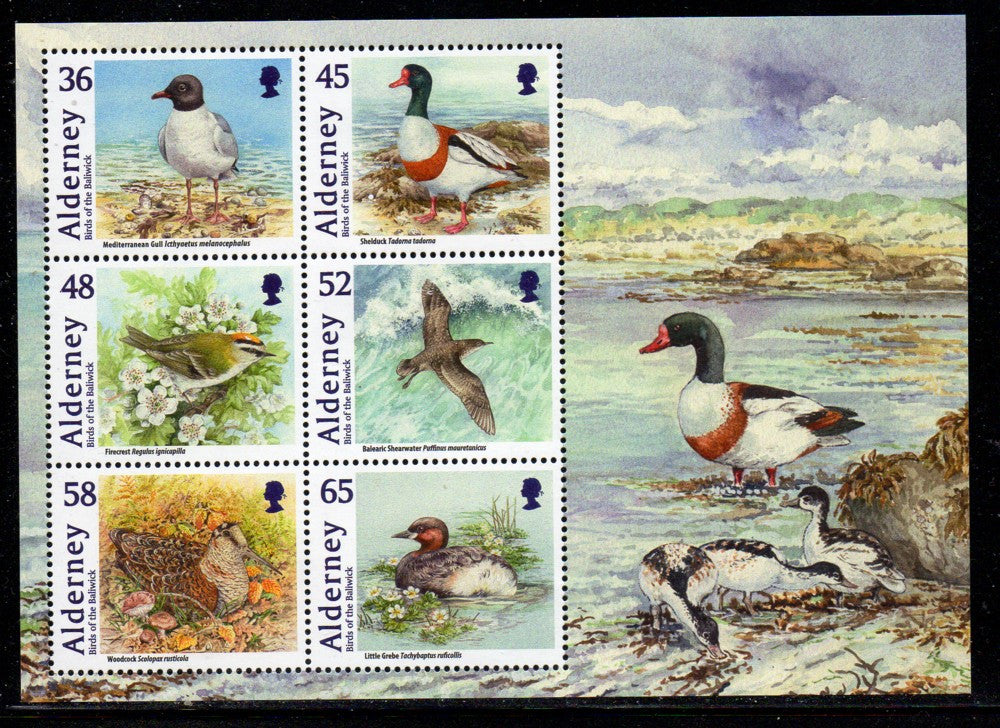 Alderney Scott  408a 2011 Birds stamp sheet mint NH