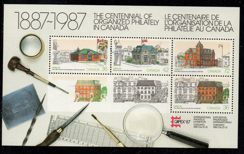Canada Sc 1125a 1987 CAEPX '87 stamp souvenir sheet mint NH