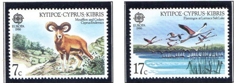Cyprus Scott 669-70 1986 Europa stamp set mint NH