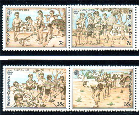 Cyprus Scott 722-5 1989 Europa stamp set mint NH