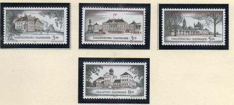 Denmark  Scott  1000-1003 1994 Castles stamp set mint NH
