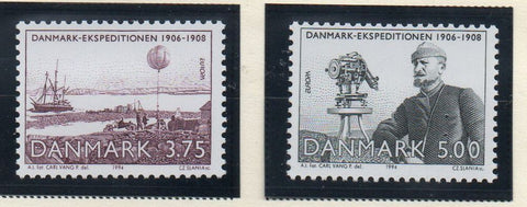 Denmark  Scott  1004-1005 1994 Europa Danmark Expedition stamp set mint NH