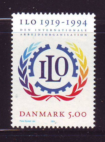 Denmark  Scott  1011 1994 75th Anniversary ILO stamp mint NH