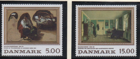 Denmark  Scott  1018-19 1994 Paintings stamp set mint NH
