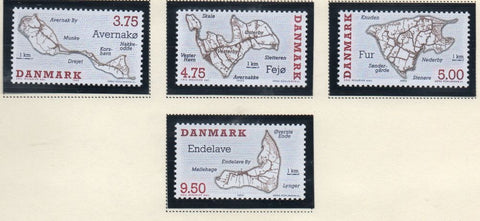 Denmark  Scott  1022-25 1995 Danish Islands stamp set mint NH