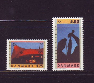 Denmark  Scott  1031-2 1995 Festivals stamp set mint NH