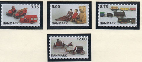 Denmark  Scott  1037-40 1995 Toys stamp set mint NH