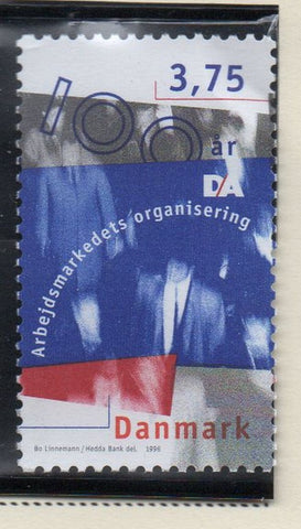 Denmark  Scott  1049 1996 Employers Confederation stamp mint NH