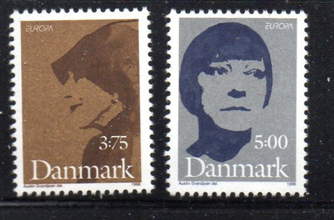 Denmark  Scott  1050-1 1996 europa stamp set mint NH