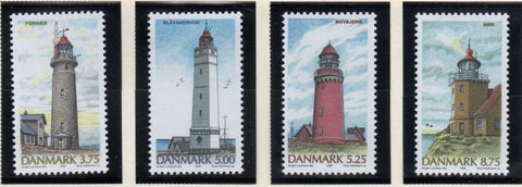 Denmark  Scott  1055-58 1996 Lighthouses stamp set mint NH