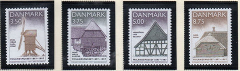 Denmark  Scott  1067-70 1997 Open Air Museum stamp set mint NH