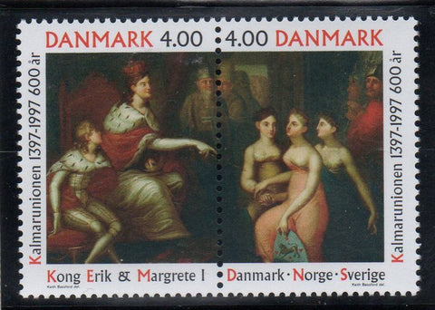 Denmark  Scott  1074a 1997 600th Anniv Kalmar Union stamp set mint NH