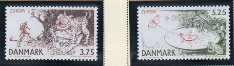 Denmark  Scott  1078-9 1997 Europa Legends stamp set mint NH