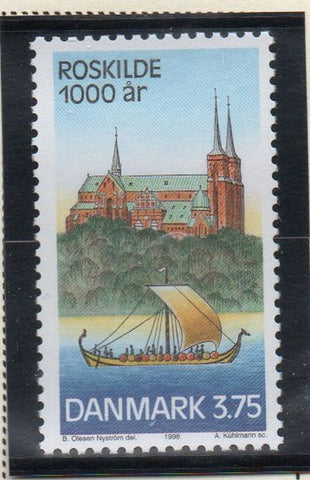 Denmark  Scott  1090 1998 1000th Anniversary Roskilde stamp mint NH