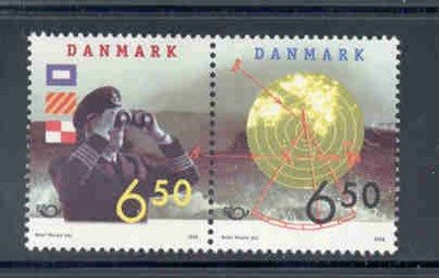 Denmark  Scott  1099a 1998 Nordic stamp set pair mint NH