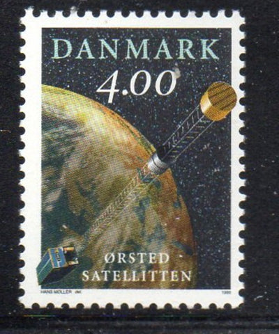 Denmark  Scott  1143 1999 Oersted Satelite stamp mint NH