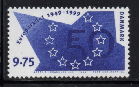 Denmark  Scott  1154 1999 Council of Europe stamp mint NH