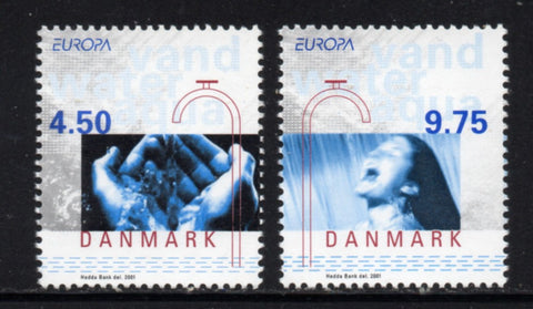 Denmark  Scott  1202-3 2001 Europa stamp set mint NH