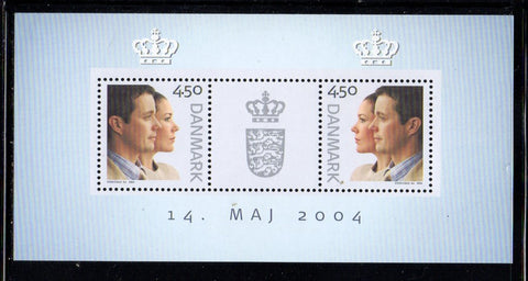 Denmark  Scott  1275e 2004 Royal Wedding stamp sheet mint NH