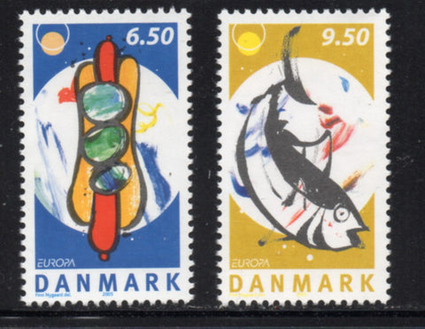 Denmark  Scott  1331-2 2005 Europa Food stamp set mint NH