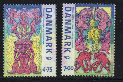 Denmark  Scott  1349-50 2006 Nordic Mythology stamp set mint NH