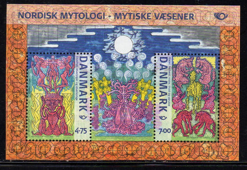 Denmark  Scott  1350a 2006 Norsk Mythology stamp sheet mint NH
