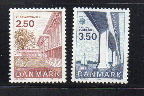 Denmark  Scott  738-9 1983 Europa stamp set mint NH
