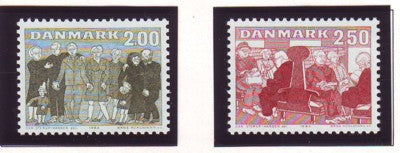 Denmark  Scott  745-6 1983 Elderly stamp set mint NH