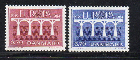 Denmark  Scott  755-6 1984 Europa stamp set mint NH