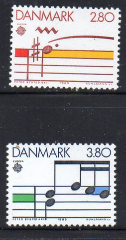 Denmark  Scott  773-4 1985 Europa stamp set mint NH