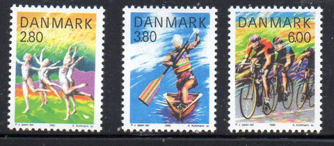 Denmark  Scott  780-2 1985 Sports stamp set mint NH
