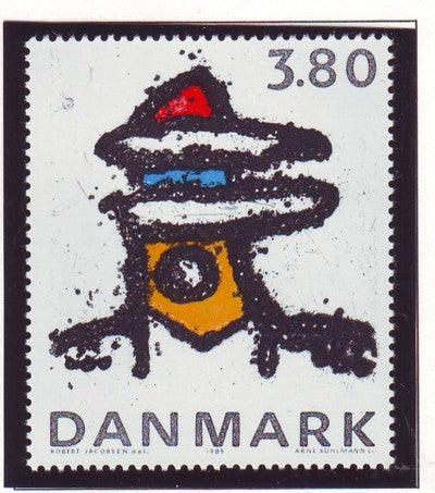 Denmark  Scott  788 1985 Abstract Sculpture stamp mint NH