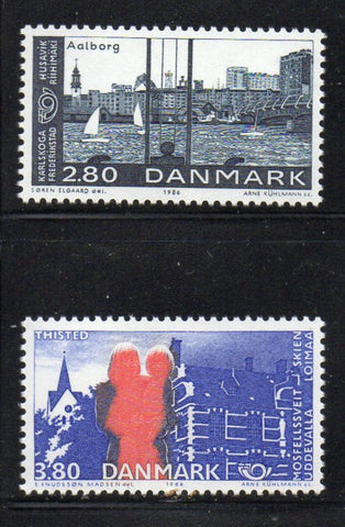 Denmark  Scott  819-20 1986 Nordic Cooperation stamp set mint NH