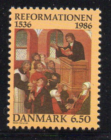 Denmark  Scott  830 1986  Protestant Reformation Anniversary stamp mint NH