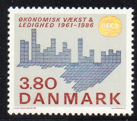 Denmark  Scott  831 1986 25th Anniv OECD stamp mint NH