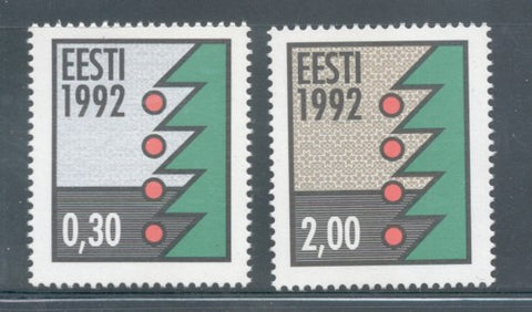 Estonia Scott  235-36 1992 Christmas stamp set mint NH