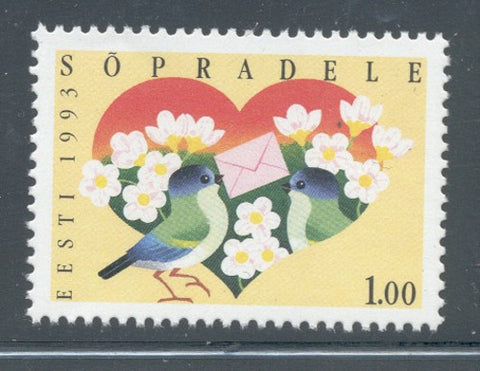 Estonia Scott  237 1993  Finland Friendship stamp mint NH