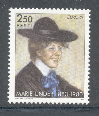 Estonia Scott  306 1996 Europa Marie Under stamp  mint NH