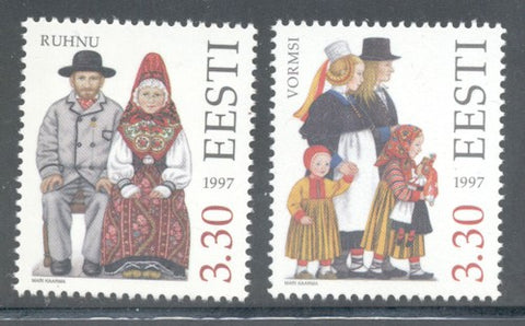 Estonia Scott  3256-6 1997  Folk Costumes stamp set mint NH