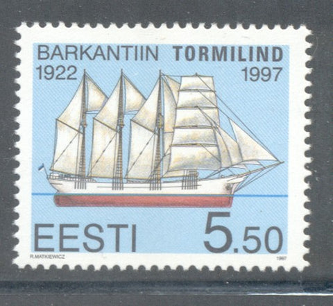 Estonia Scott  328 1997  Ship Tormilind  stamp mint NH