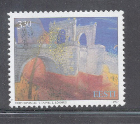 Estonia Scott  329 1997  Tartu Stone Bridge  stamp mint NH