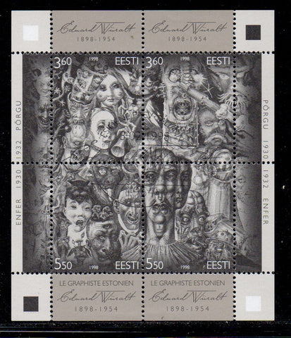 Estonia Scott  337 1998 Wiiralt  stamp sheet used